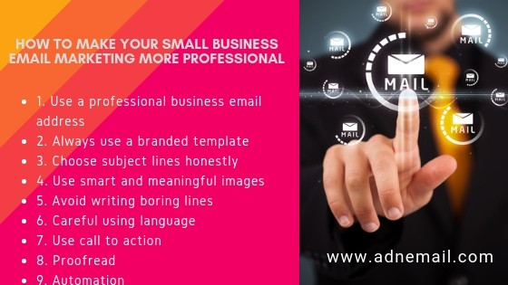 How to make your small business email marketing more professional