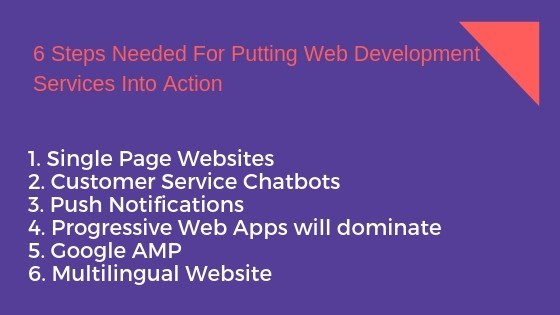 6 Steps Needed For Putting Web Development Services Into Action